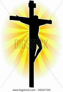Silhouette Vector Jesus Christ On Vector & Photo | Bigstock