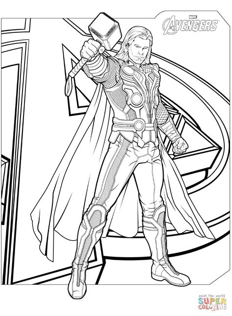 Free Printable Coloring Pages Avengers Coloring Home