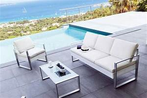 Salon de jardin design contemporain en rotin Meuble et décoration Marseille mobilier design