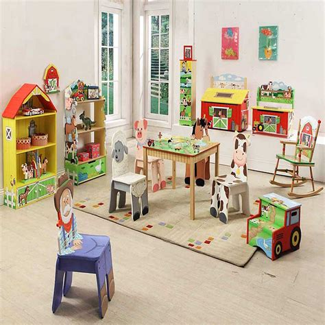 Kids Playroom Furniture Set With Animal Learning Design