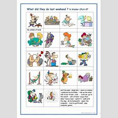 What Did They Do ? Worksheet  Free Esl Printable Worksheets Made By Teachers