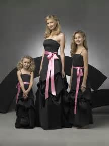 black dresses for bridesmaids black and pink bridesmaid dresseswedwebtalks wedwebtalks