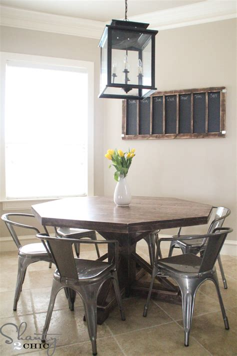 diy  wooden table   shanty  chic
