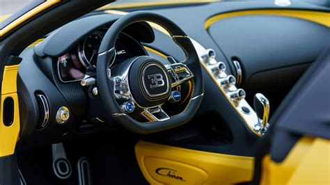 1920 x 1200 jpeg 429 кб. 2018 Bugatti Chiron Yellow and Black Interior Wallpaper ...