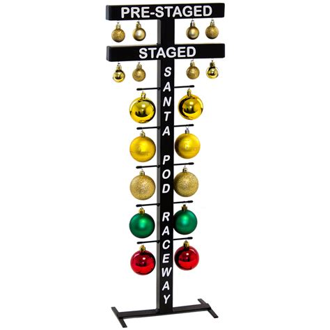 free standing drag racing startline christmas tree