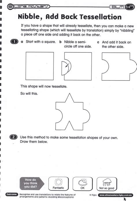 tessellation worksheet year 4 kidz activities