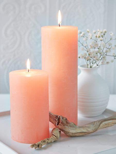 peach pillar candles nordichouse peach candle pillar