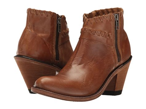 Ankle Boots : Old West Boots Crisscross Stitch Ankle Boot At Zappos.com