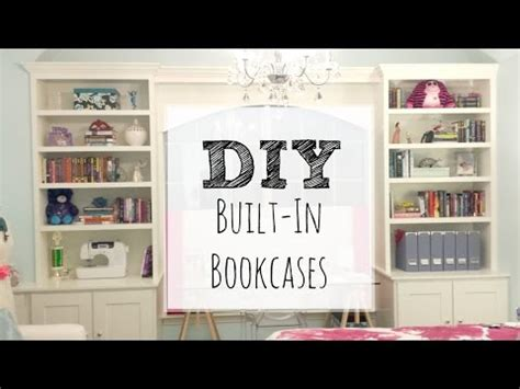 easy diy bookcase   build built  bookcases youtube