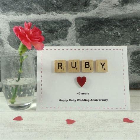 ruby wedding anniversary card happy anniversary married