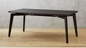 Finmark Charcoal Black Wood Dining Table Reviews CB2