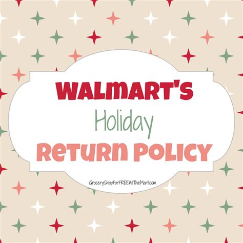walmart s holiday returns policy grocery shop for free
