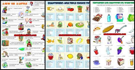quantifiers esl printable worksheets  exercises