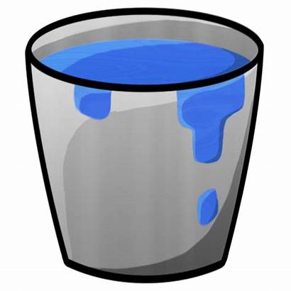 Bucket Water Clipart Minecraft Icon Cliparts Icons