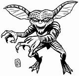 Coloring Pages Gremlins Horror Halloween Drawing Scary Adult Gizmo Colouring Bing Sheets Sketch Movies Gremlin Results Monster Clipart Template Rocky sketch template