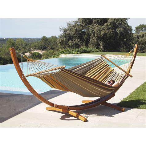 support chaise hamac support et toile de hamac porto chocolat kaki
