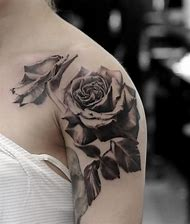 Best black rose tattoo designs ideas and images on bing find black and white rose shoulder tattoo mightylinksfo