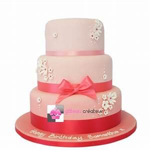 Image De Gateau D Anniversaire : g teau d 39 anniversaire pretty pink pi ce mont e ~ Melissatoandfro.com Idées de Décoration