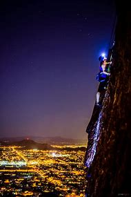 Night Rock Climbing