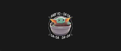 2560x1080 Cool Baby Yoda Minimalist 2560x1080 Resolution