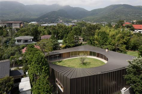 home interiors celebrating home shigeru ban subtracts circular courtyard from villa