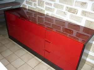 Meuble Cuisine Rouge Laqué : meuble laque rouge ~ Teatrodelosmanantiales.com Idées de Décoration