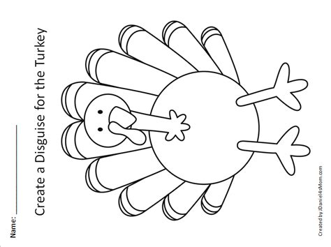 turkey in disguise template printable steam turkey disguise project let s make it a unicorn