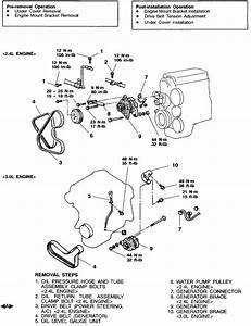 How Do I Remove The Alternator From My 2000 Galant Es 2 4 L 4 Cyl