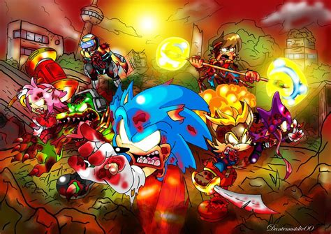 Sonic Zombies By *dantemustdie00