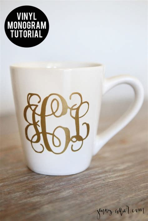 diy vinyl monogram jenny collier blog