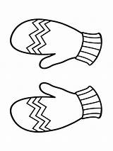 Coloring Mittens Pages Printable Bright Choose Colors Favorite sketch template