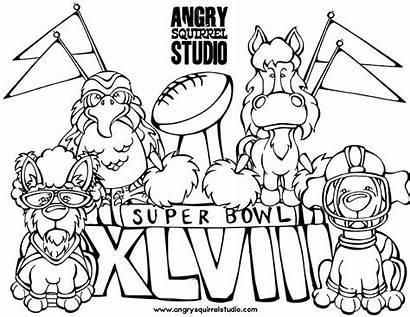 Coloring Seahawks Bowl Printable Seattle Superbowl Football