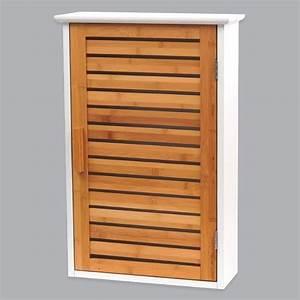 Meuble De Salle De Bain Haut De Gamme : meuble haut de salle de bain bakou bois bambou meuble haut eminza ~ Melissatoandfro.com Idées de Décoration