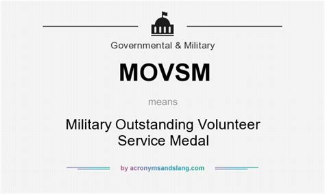 Military Outstanding Volunteer Service Medal Pictures To