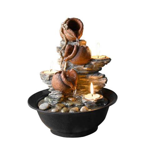 fountain cellar tavolo luci mini pot tabletop fountain