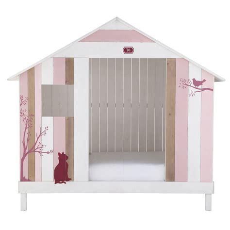 lit cabane enfant lit cabane enfant 90 x 190 cm en bois et blanc