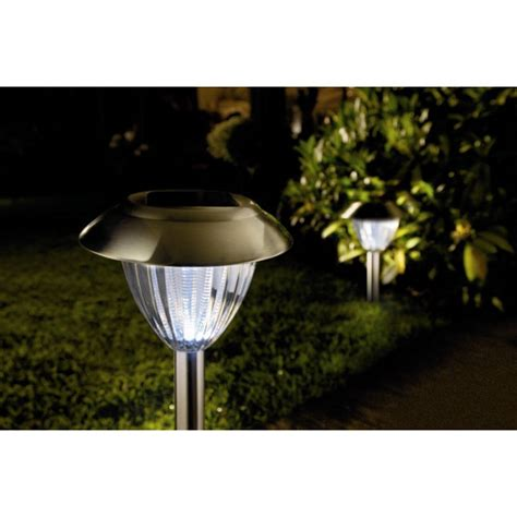 set of two white ultra bright solar garden lights by