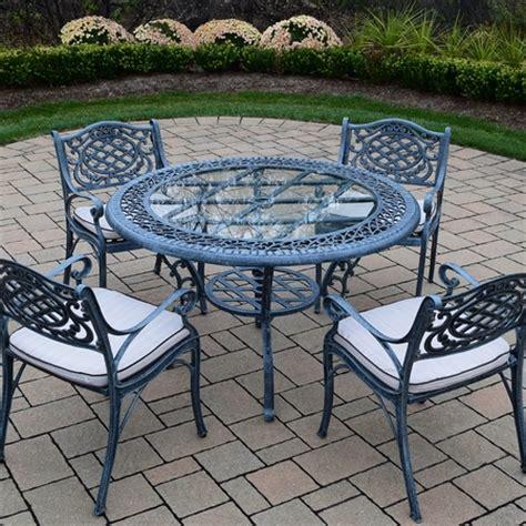 oakland living mississippi cast aluminum 5 patio