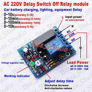 Ac 220v 230v Adjustable Delay Time Turn On  Off Relay Switch Timer Control Module