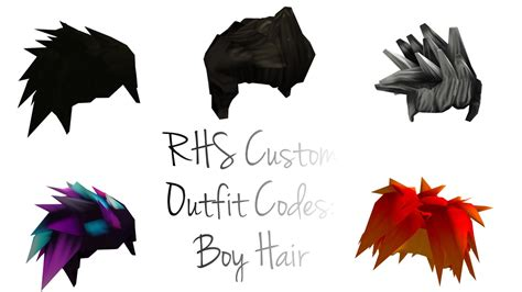 Yes, these codes are ids that you can use to customize your avatar (_in game only, not outside of the game_). Roblox RHS Custom Outfit Codes: Boy Hair - YouTube