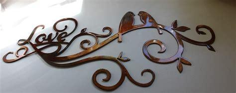 scroll with birds metal wall decor