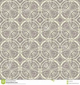Pattern With Decorative Shapes In Organic Brown Stock ...