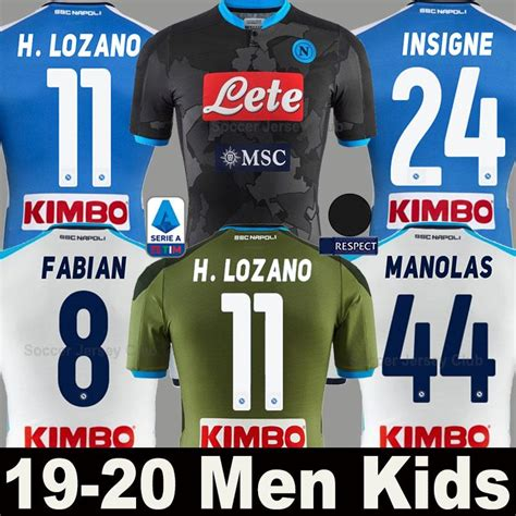 This is the shirt number history of lorenzo insigne from ssc neapel. 2020 19 20 Napoli Soccer Jersey LOZANO KOULIBALY INSIGNE ...