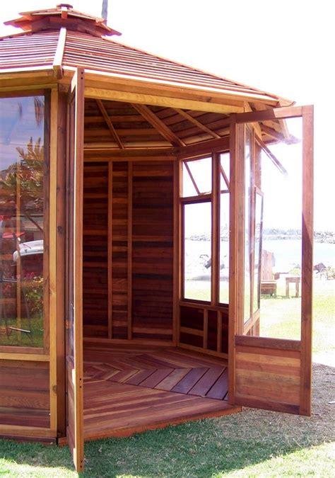 octagonal gazebo sunroom wood gazebo kit  sale