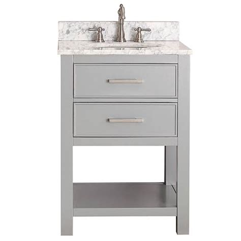 Brooks Chilled Gray 24 Inch Vanity Combo With Carrera