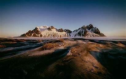 Landscape Winter Wallpapers Iceland Mountain Vestrahorn Background
