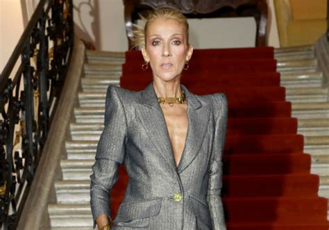 scary skinny celine dion brought  tears  paris fashion