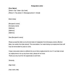 Friendly Resignation Letter Template