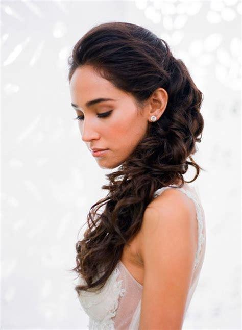 peinado de novia semi recogido de lado  tendencias en