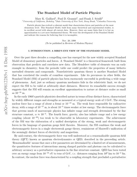(PDF) The Standard Model of Particle Physics